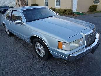 1990 Blue Lincoln Mark Series Coupe