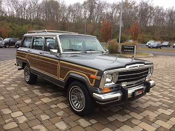 Gray Jeep Grand Wagoneer SUV 1989